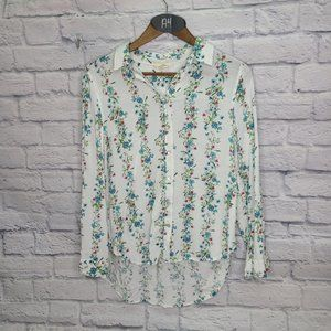 Jane and Delancey Floral Button Down Top